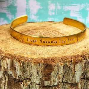 Jewelry - 🆕 Hope Anchors the Soul Cuff Bracelet Hebrews 619